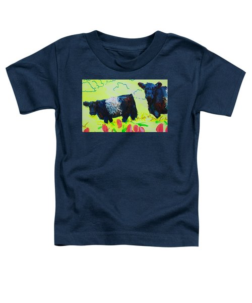 Two Belted Galloway Cows Looking At You Toddler T-Shirt