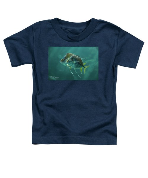 Two In Turquoise Toddler T-Shirt