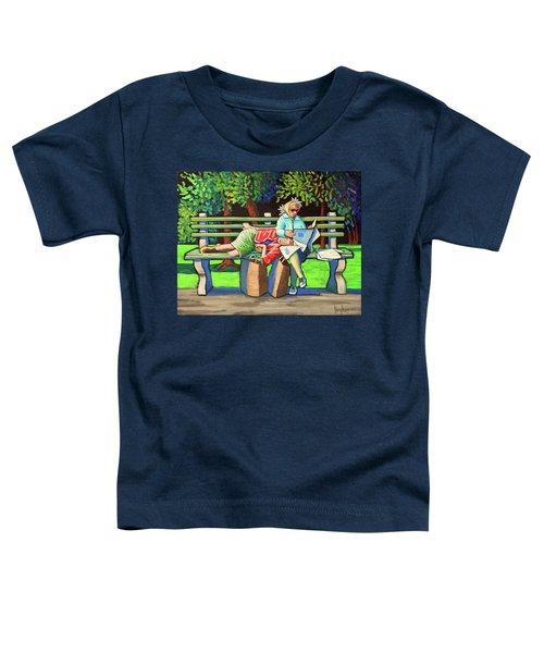 Two Ladies On Bench Toddler T-Shirt