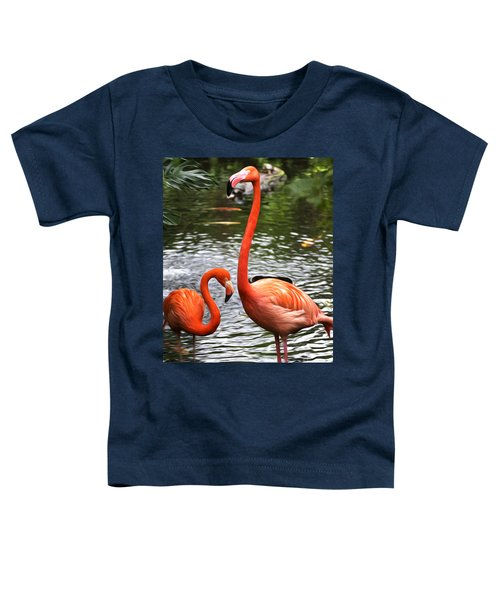 Two Pink Flamingo's Toddler T-Shirt