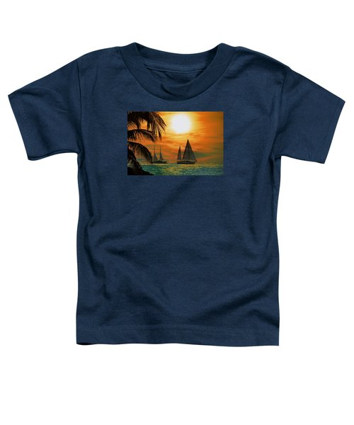 Two Ships Passing In The Night Toddler T-Shirt