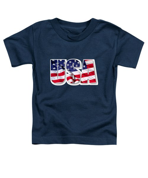 U. S. A. Red White Blue Design Toddler T-Shirt