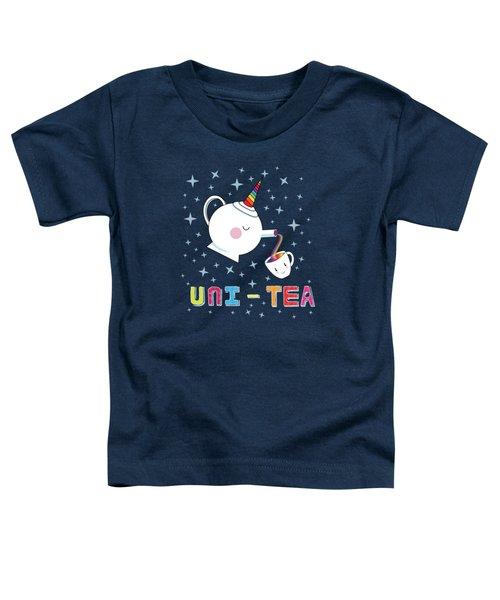 Unitea  Cute Unity Rainbow Tea Pot And Cup Toddler T-Shirt