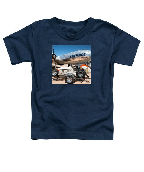 Us Air Force Airplane And Race Car  Toddler T-Shirt