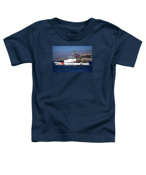 Uscg Hawksbill Patrols San Francisco Bay During Fleet Week Toddler T-Shirt