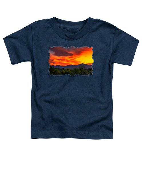 Valley Sunset H32 Toddler T-Shirt by Mark Myhaver