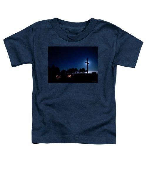 Ventura Ca Cross At Moonset Toddler T-Shirt