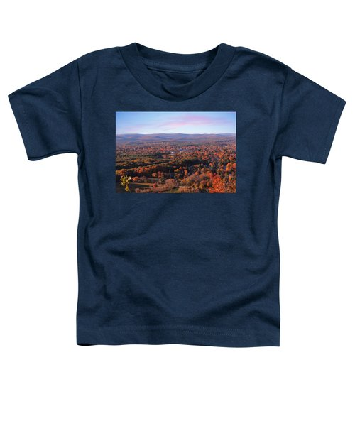 View From Mount Tom In Easthampton, Ma Toddler T-Shirt