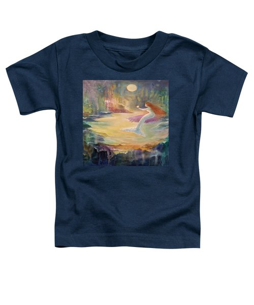 Vintage Mermaid Toddler T-Shirt by Lily Nava
