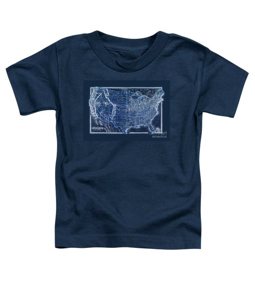 Vintage Us Map From 1880 Toddler T-Shirt