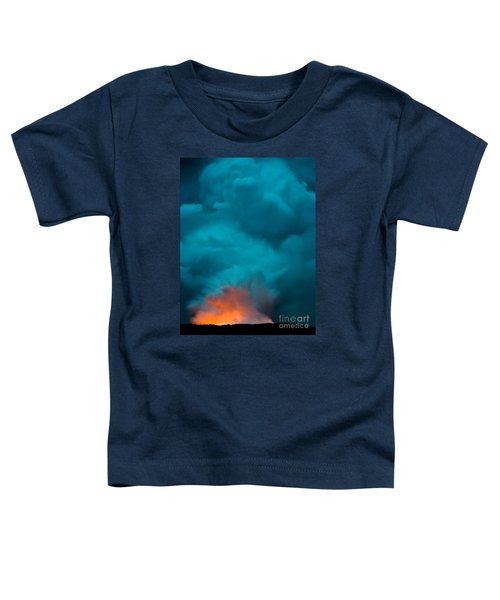 Volcano Smoke And Fire Toddler T-Shirt