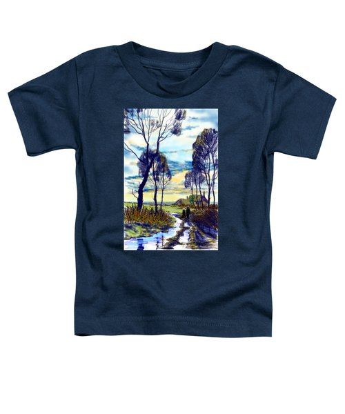 Walk On A Wet Road Toddler T-Shirt