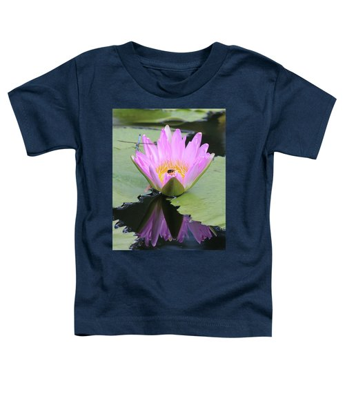 Water Lily With Dragon Fly Toddler T-Shirt