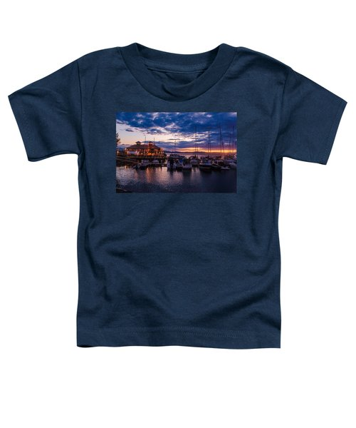 Waterfront Summer Sunset Toddler T-Shirt