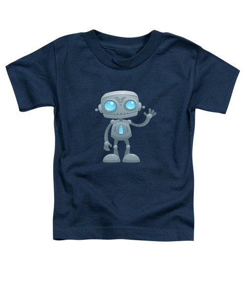 Waving Robot Toddler T-Shirt