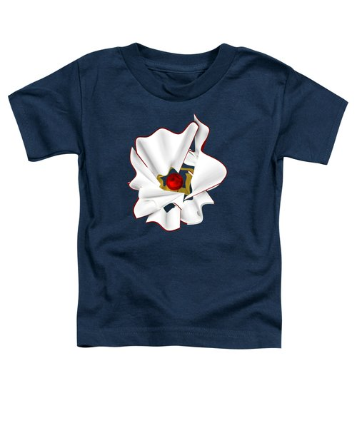 White Abstract Flower Toddler T-Shirt