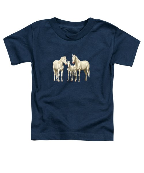 White Horses In Winter Pasture Toddler T-Shirt
