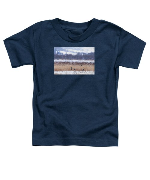 Winter Lapwings Toddler T-Shirt by Liz Leyden