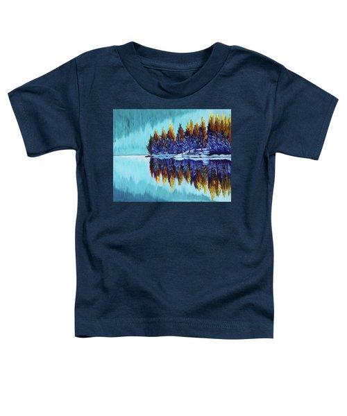 Winter - Mountain Lake Toddler T-Shirt