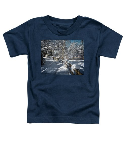 Winter On Ruskin Farm Toddler T-Shirt