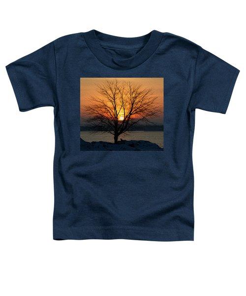Winter Tree Sunrise Toddler T-Shirt