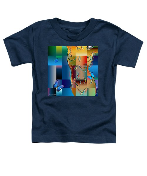 Woman In Nude Collage  Toddler T-Shirt
