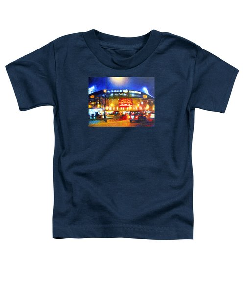Wrigley Field Home Of Chicago Cubs Toddler T-Shirt