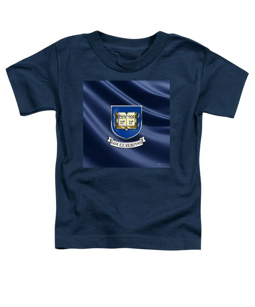 Yale University Coat Of Arms.  Toddler T-Shirt by Serge Averbukh