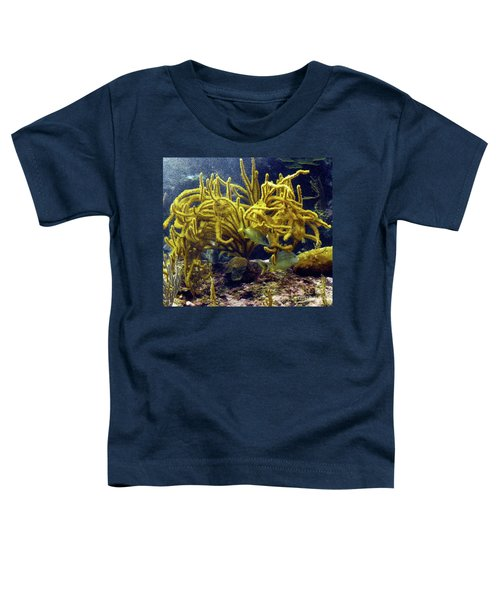 Toddler T-Shirt featuring the photograph Yellow Coral Dance by Francesca Mackenney