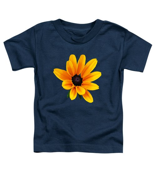 Yellow Flower Black-eyed Susan Toddler T-Shirt by Christina Rollo
