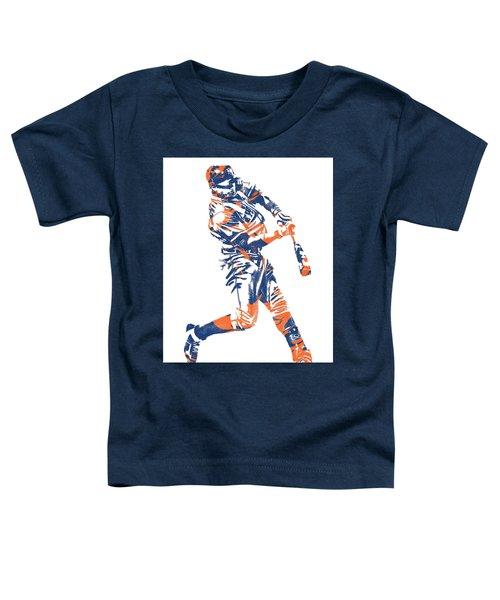 Yoenis Cespedes New York Mets Pixel Art 1 Toddler T-Shirt