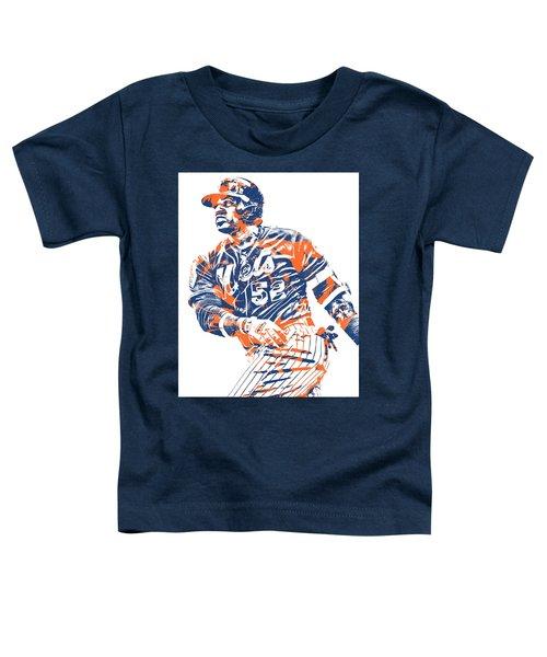 Yoenis Cespedes New York Mets Pixel Art 10 Toddler T-Shirt