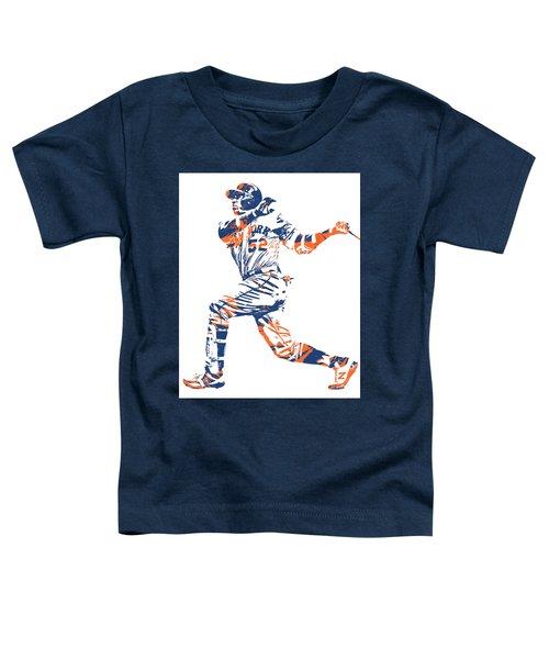 Yoenis Cespedes New York Mets Pixel Art 11 Toddler T-Shirt