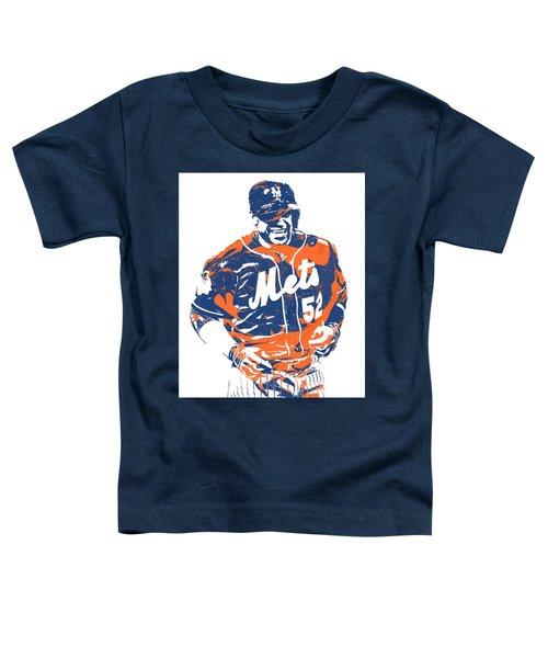 Yoenis Cespedes New York Mets Pixel Art 3 Toddler T-Shirt