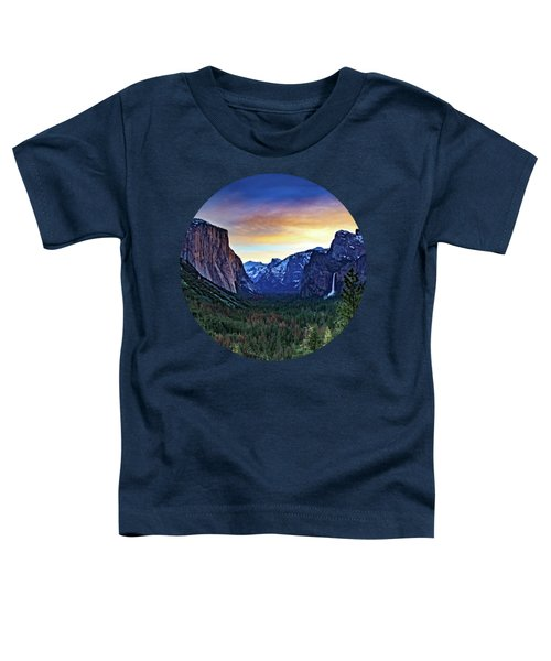 Yosemite Sunrise Toddler T-Shirt by Adam Morsa