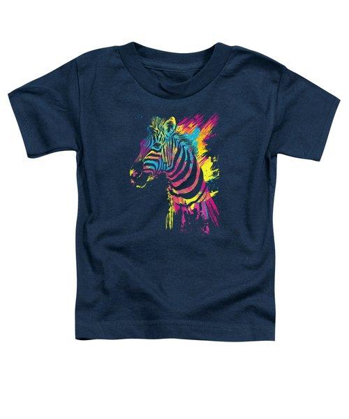 Zebra Splatters Toddler T-Shirt