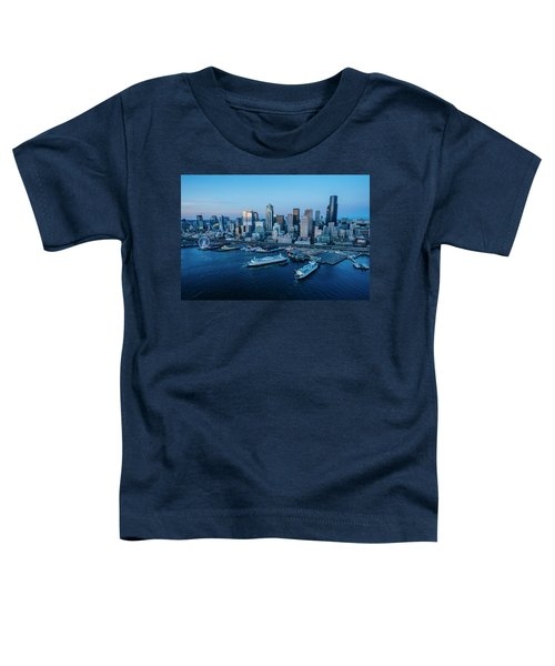 Aerial View Of A City, Seattle, King Toddler T-Shirt