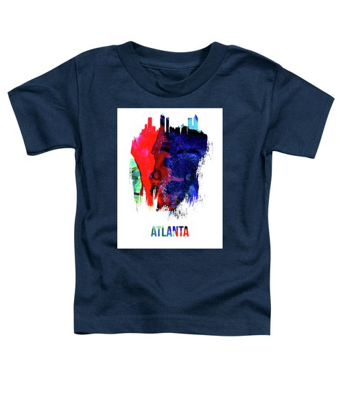 Atlanta Skyline Brush Stroke Watercolor   Toddler T-Shirt