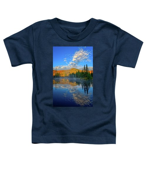 Autumn Sky, Mountain Pond Toddler T-Shirt