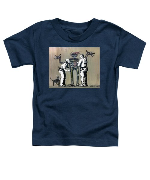 Banksy Coppers Pat Down Toddler T-Shirt