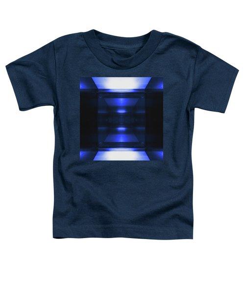 Blue Aluminum Surface. Metallic Geometric  Fashion Background Toddler T-Shirt