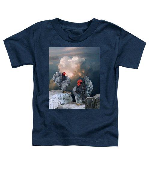 Blue Serama Pair Toddler T-Shirt