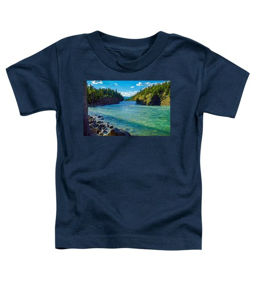 Bow River In Banff Toddler T-Shirt