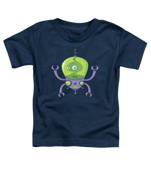 Brainbot Robot With Brain Toddler T-Shirt