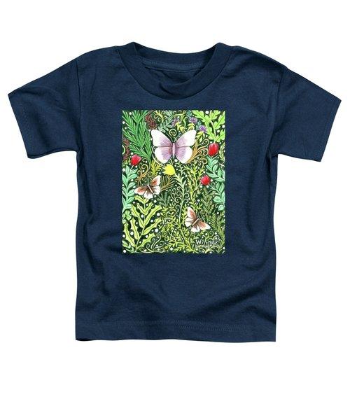 Butterflies In The Millefleurs Toddler T-Shirt