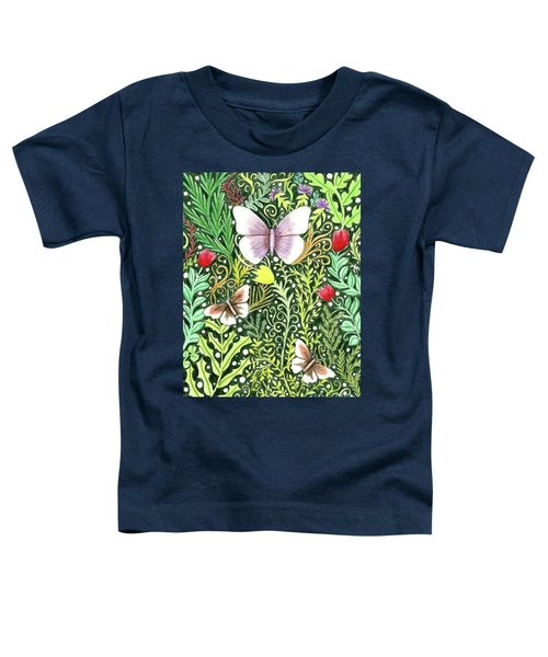 Butterflies In The Millefleurs Toddler T-Shirt