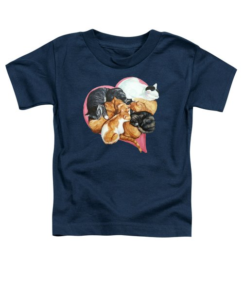 Cat Cuddle Puddle Of Love Toddler T-Shirt
