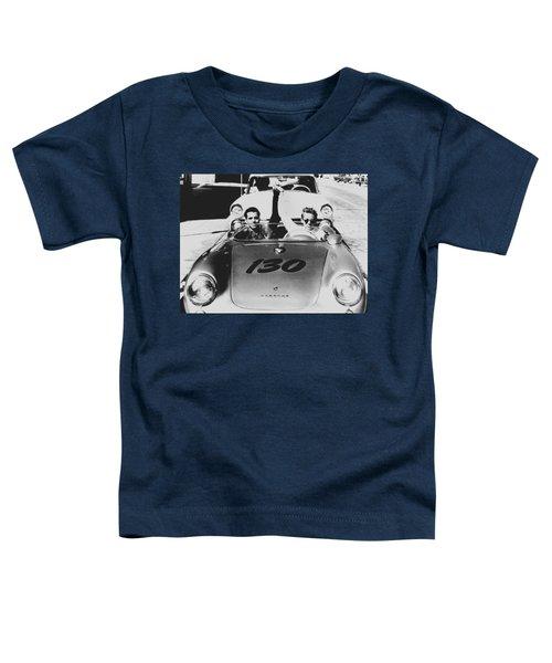 Classic James Dean Porsche Photo Toddler T-Shirt