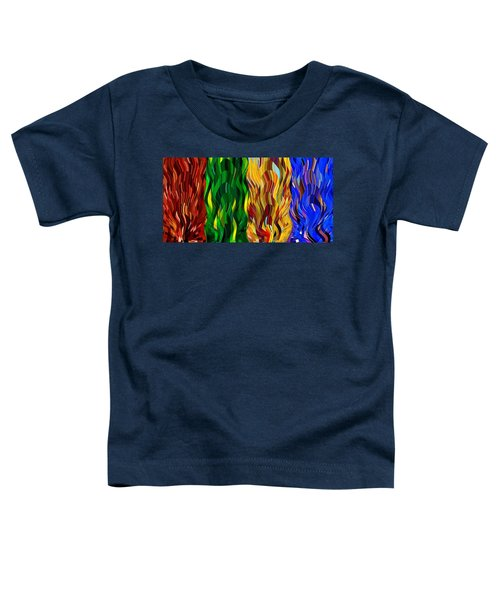 Colored Fire Toddler T-Shirt