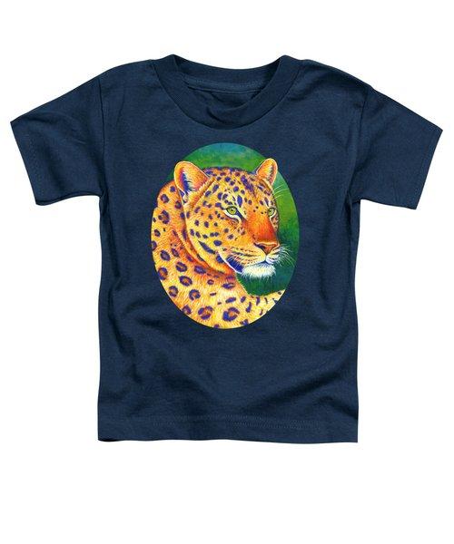 Colorful Leopard Portrait Toddler T-Shirt